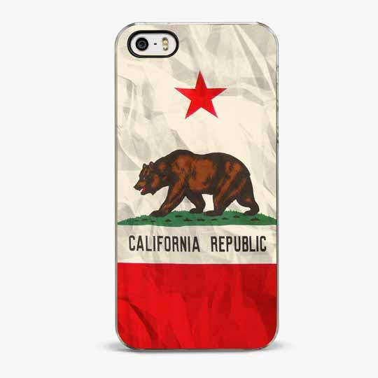 CALIFORNIA FLAG IPHONE SE CASE - CRAFIC