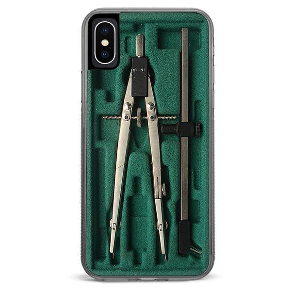 Green Compass Box iPhone XR case