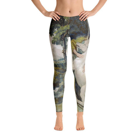 Antique Unicorn Painting Leggings