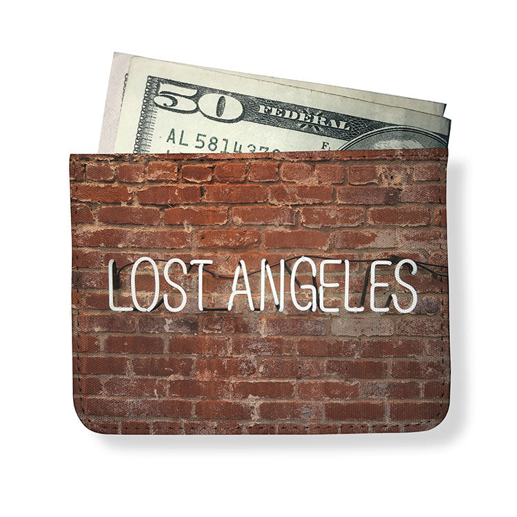 Lost Angeles Printed Minimal Wallet