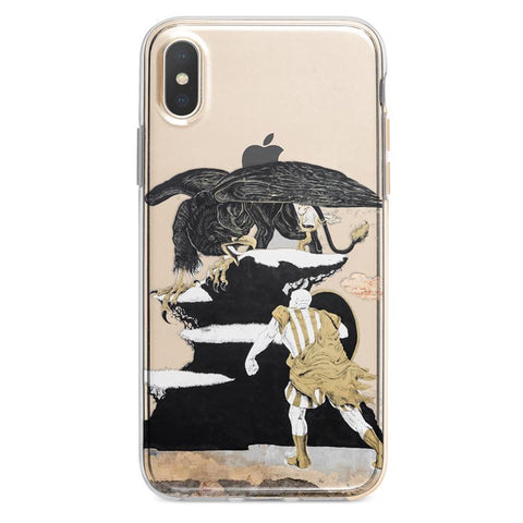 Man and Eagle iPhone Xs Max case
