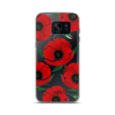 Red Poppy Samsung Case