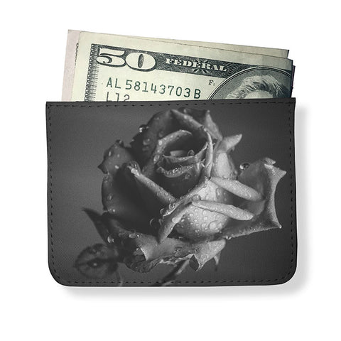 Dreamy Rose Printed Minimal Wallet
