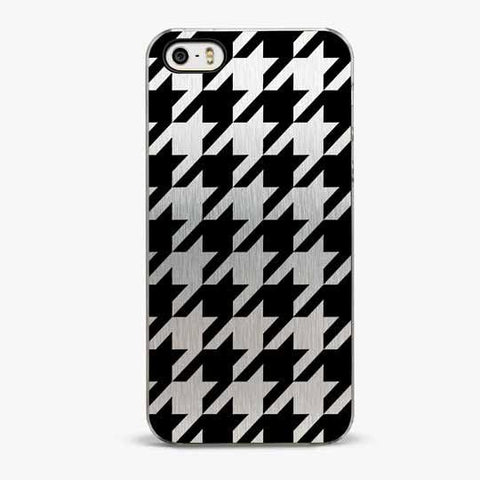 Silver Houndstooth iPhone 5/5S Case