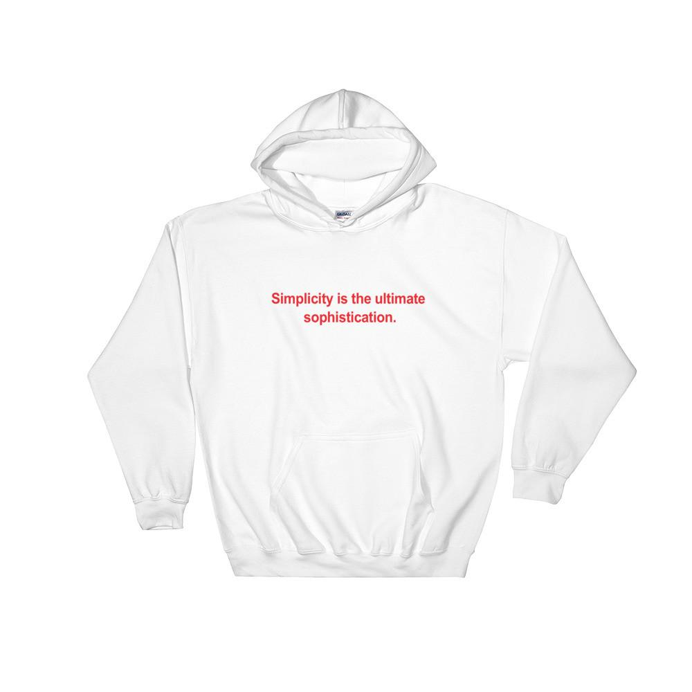 Simplicity Hooded Sweatshirt Man Sizes