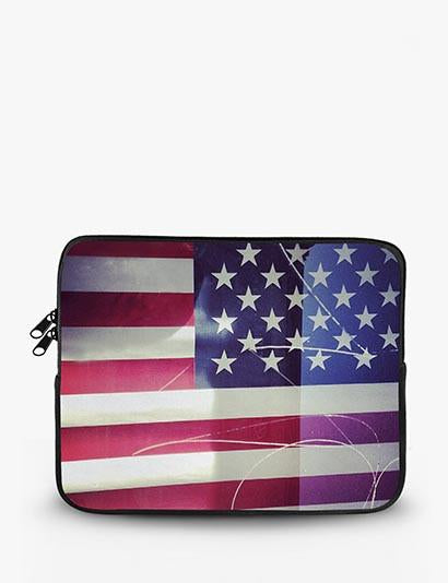 Usa Flag Reflection Ipad Sleeve