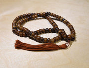 malas.ca custom coffee dyed yak bone mala