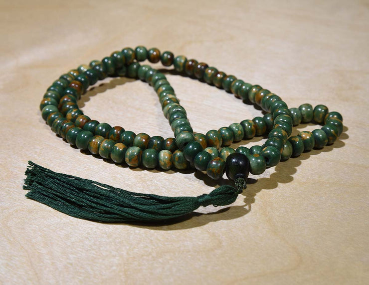 malas.ca custom copper dyed yak bone mala