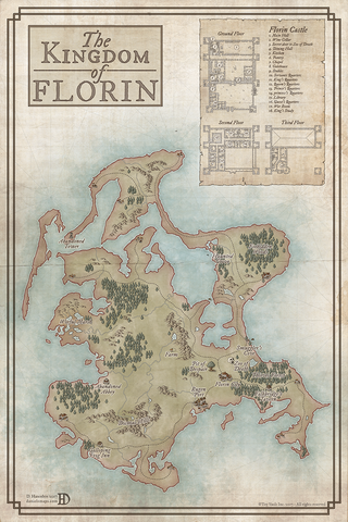The Princess Bride Roleplaying Game: Cloth Map of Florin