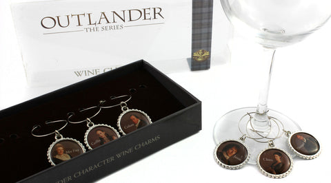 Outlander Character Wine Charms