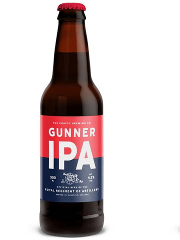 12 x 500ml Crafty Brewing Co - Gunner IPA 4.2%