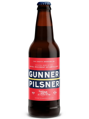 Crafty Brewing Co - 12 x 500ml - Gunner Pilsner 5%
