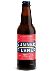 12 x 500ml Crafty Brewing Co - Gunner Pilsner 5%