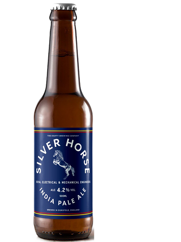 12 x 500ml Crafty Brewing Co - REME Charity Silver Horse - IPA 4.2%