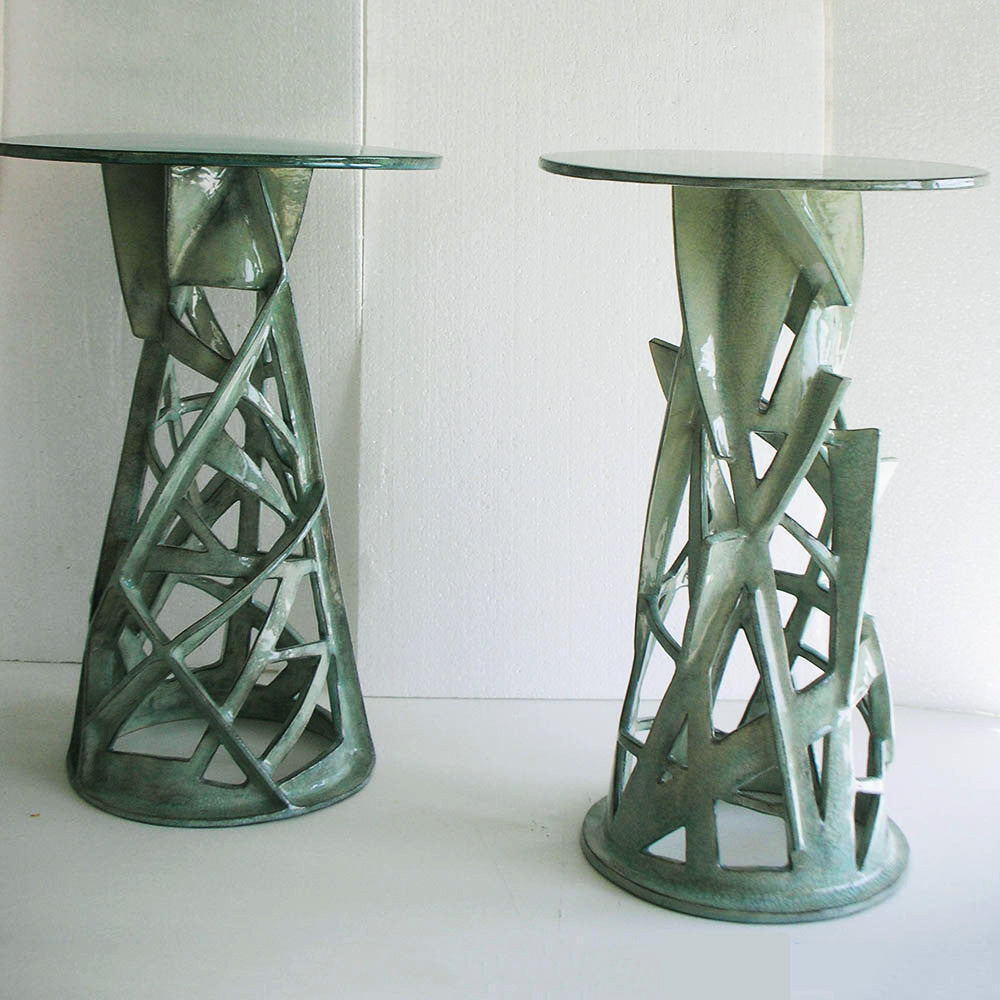 Twenty First Gallery Francois Salem Celadon Side Table Ceramic