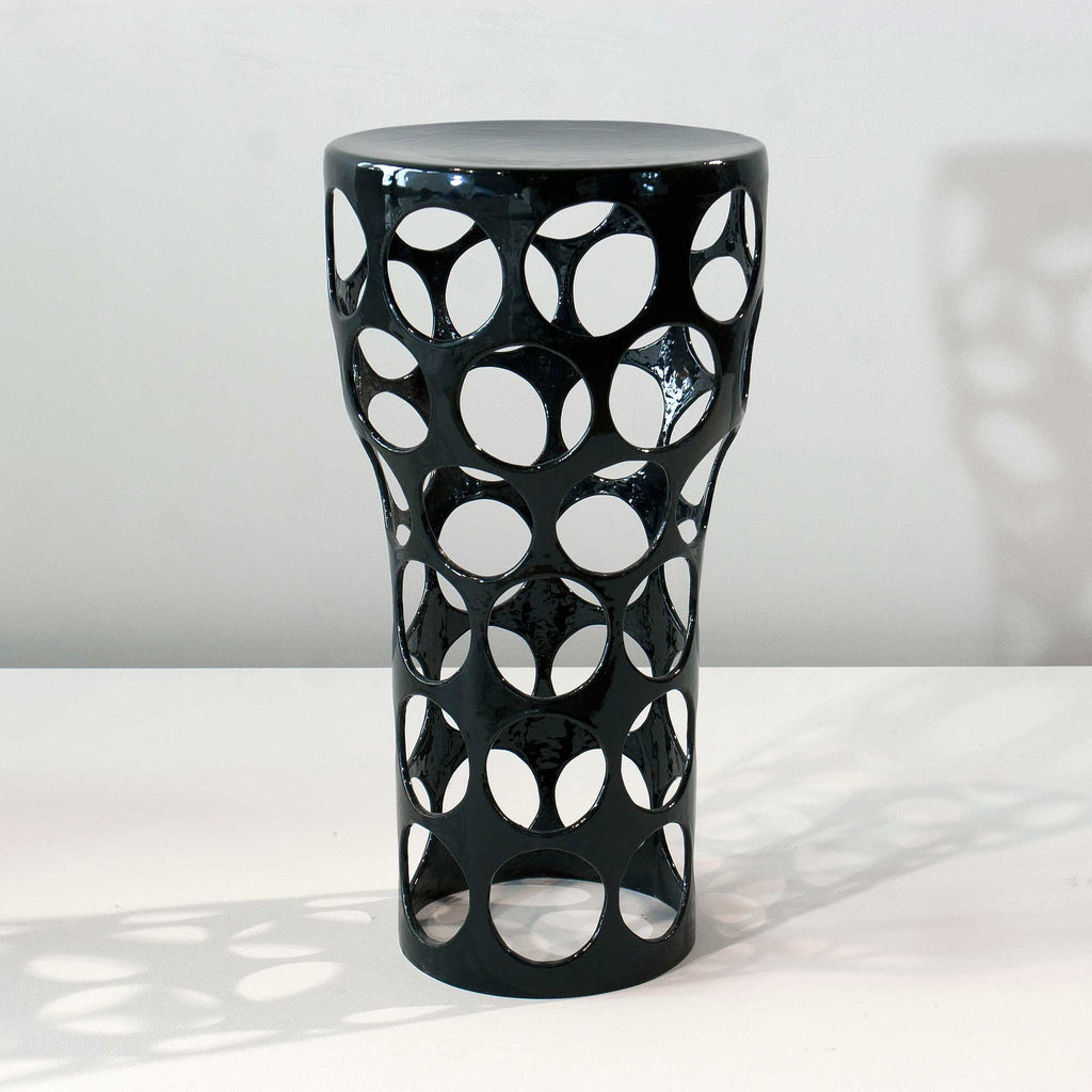 Twenty First Gallery Armelle Benoit Ceramic Side Table Black White