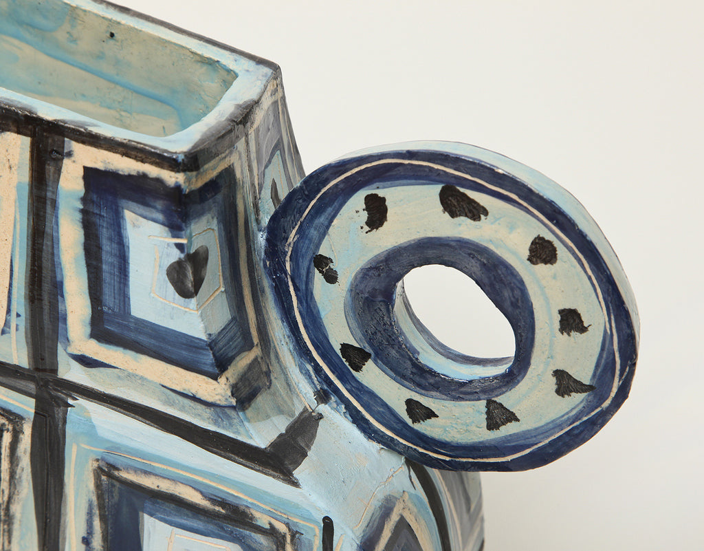 Twenty First Gallery Alice Gavalet Blue Vase Ceramic