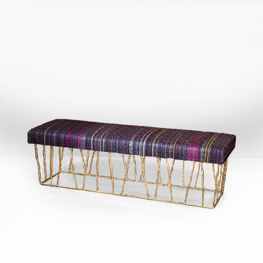 Twenty First Gallery Anne Vincent Corbiere Cage Bench Stool