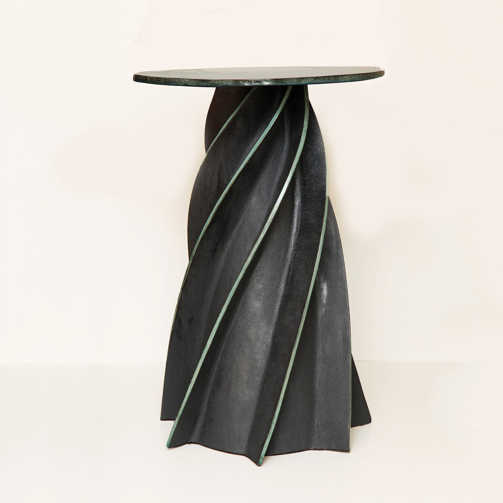 Twenty First Gallery Francois Salem Twist Celadon Side Table