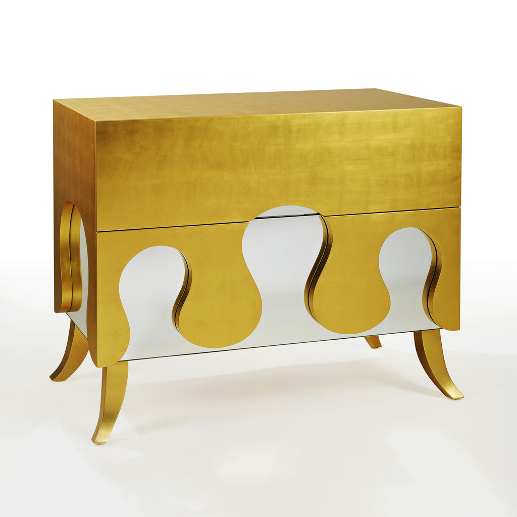 Twenty First Gallery Hubert Le Gall Azur Gold Commode Cabinet Chest of Drawers