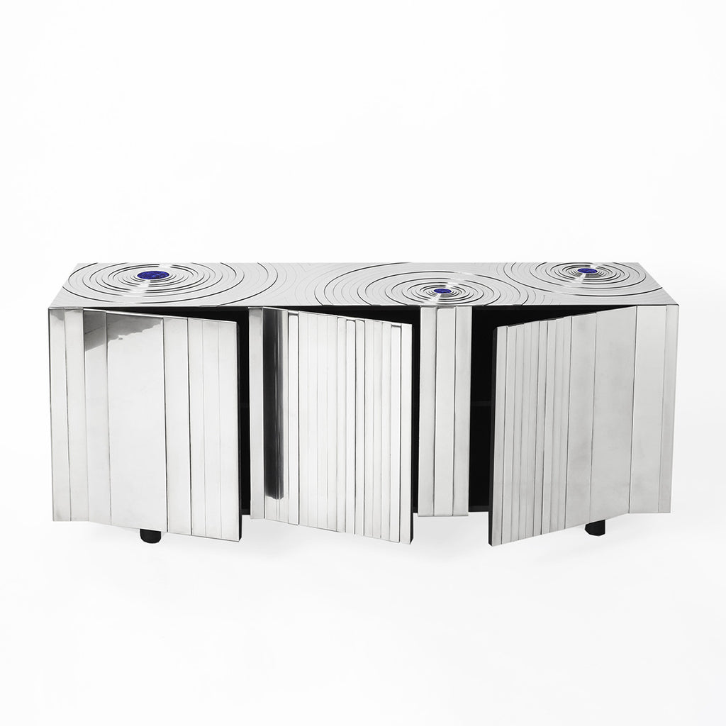 Twenty First Gallery 3 Ondes Buffet Steel