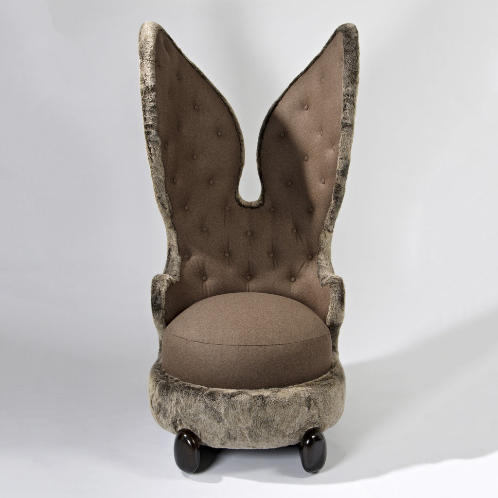 Twenty First Gallery Hubert Le Gall Lapin Calin Arm Chair Upholstered Rabbit