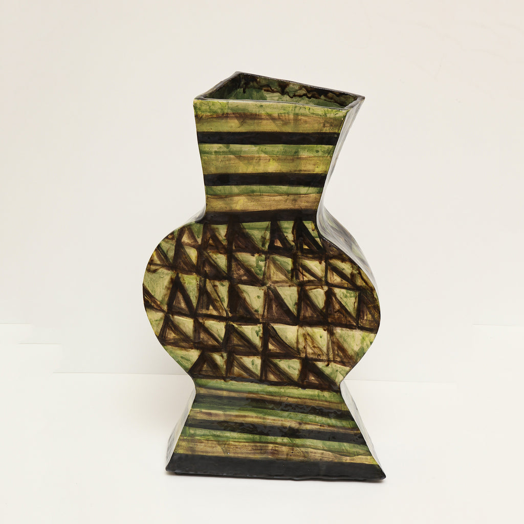 Twenty First Gallery Alice Gavalet Green Vase Ceramic