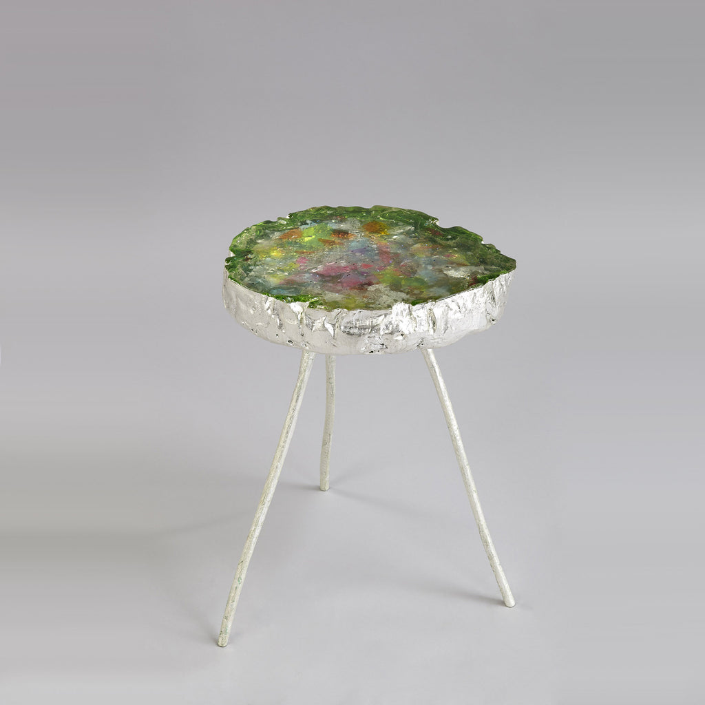 Twenty First Gallery Helene de Saint Lager Petite Table En Resine Verte Side