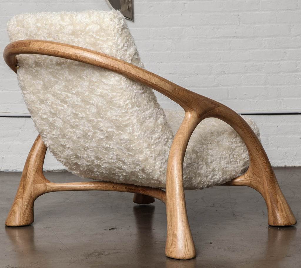 Twenty First Gallery Saccamanno Dayot Yaka Oak Arm Lounge Chair