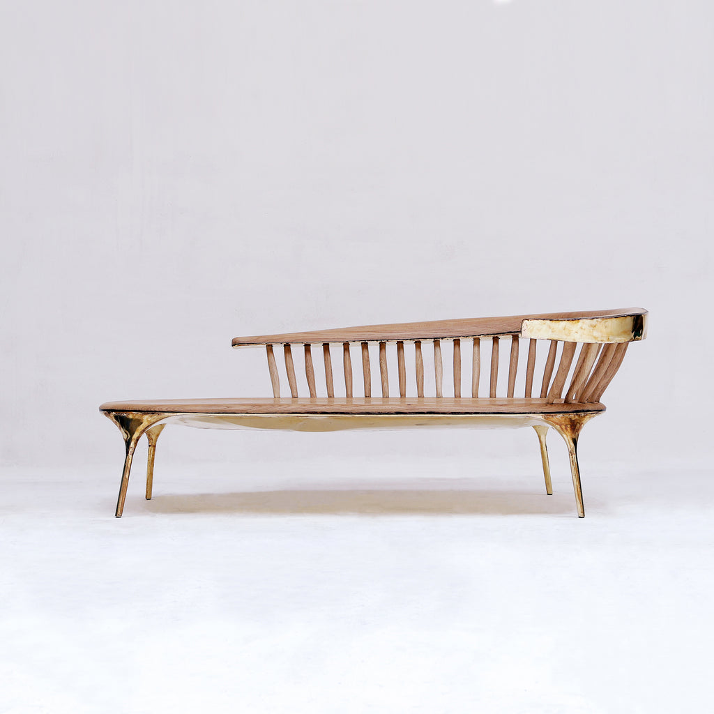 BRASS LOUNGE CHAIR