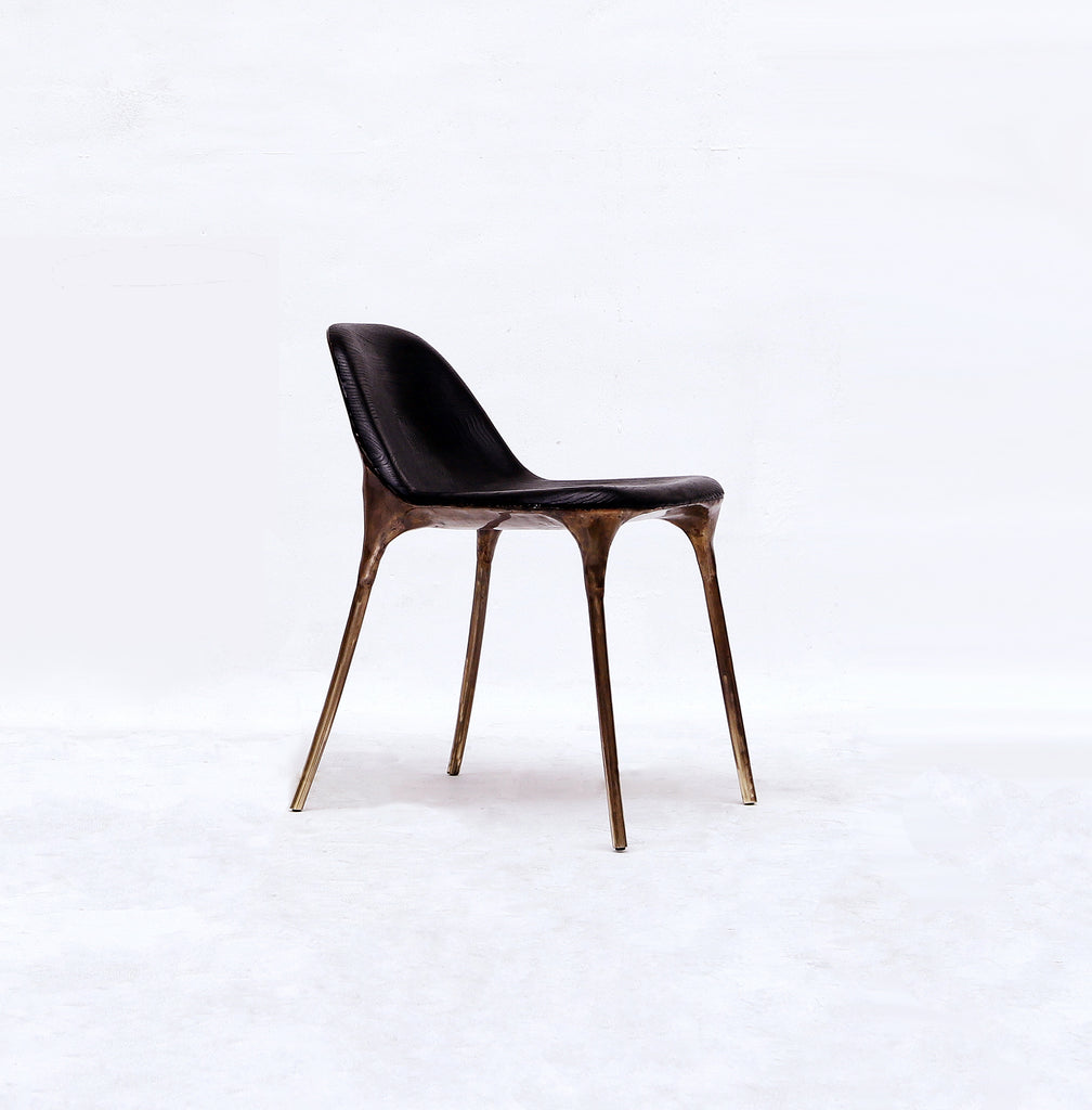 BRASS BLACK CHAIR