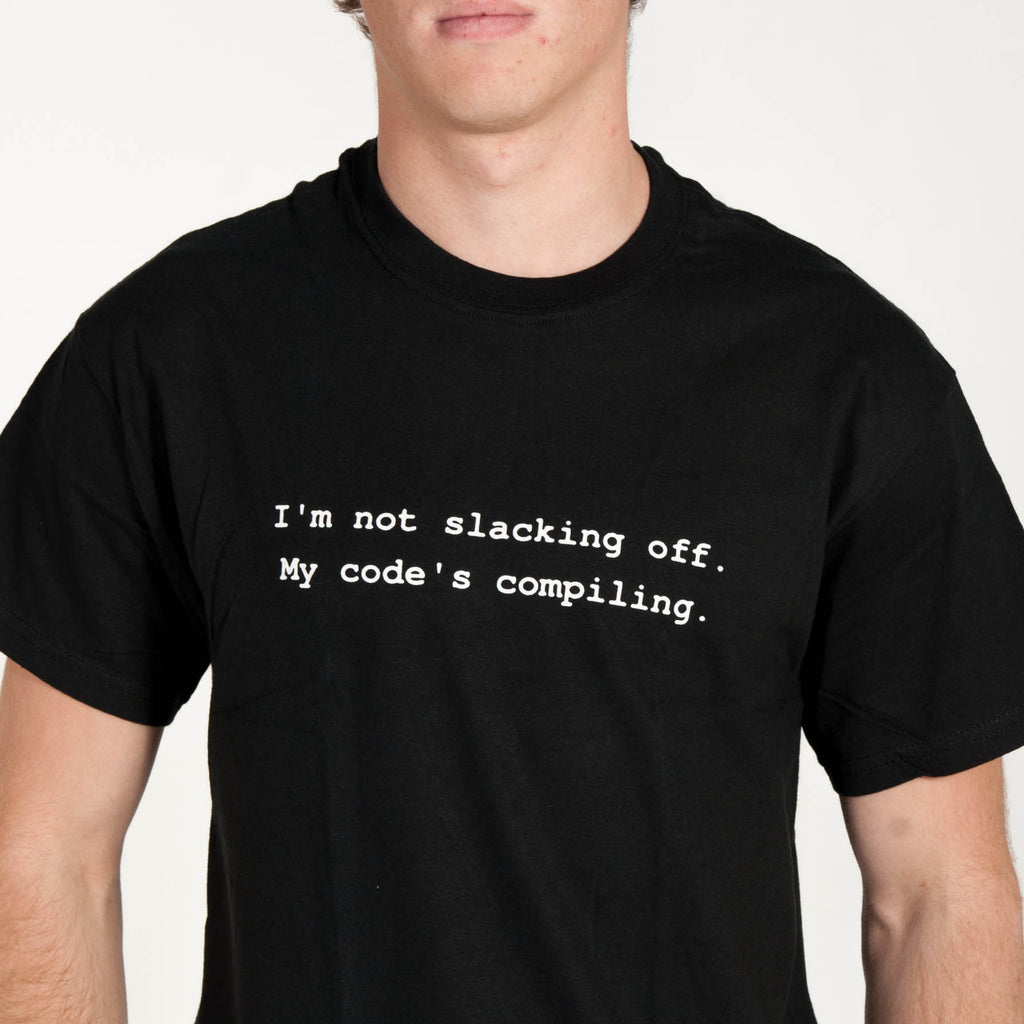 Xkcd shirt design - Based On The Compiling Comic This Shirt Increases Your Programming And Swordfighting Skills To 18