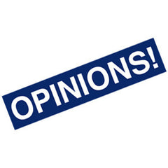 Opinions Bumper Sticker