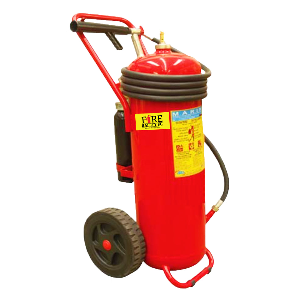 100KG AB Trolley Marine Cartridge Fire Extinguisher
