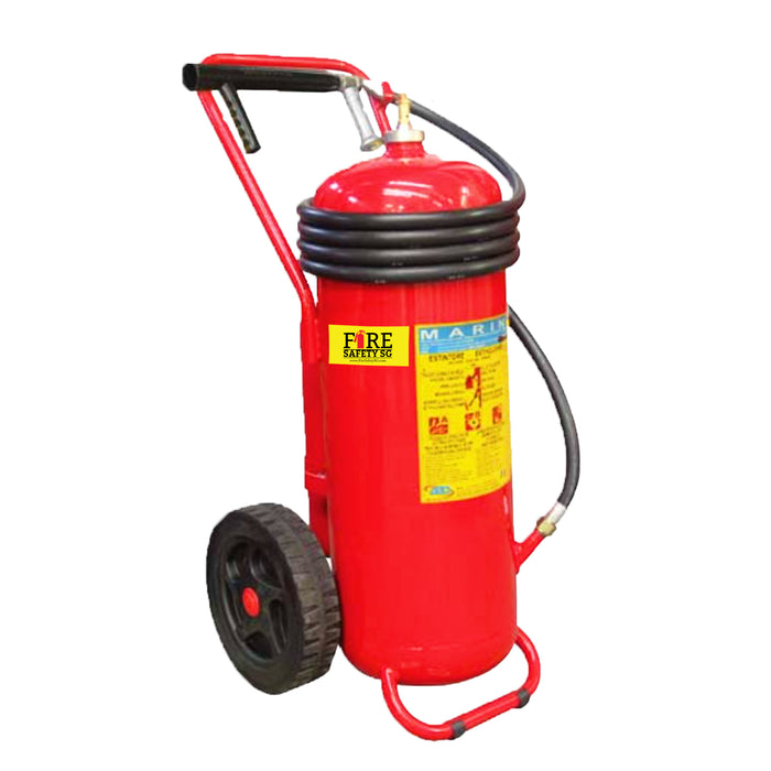 50KG AB ABS Marine Trolley Cartridge Fire Extinguisher