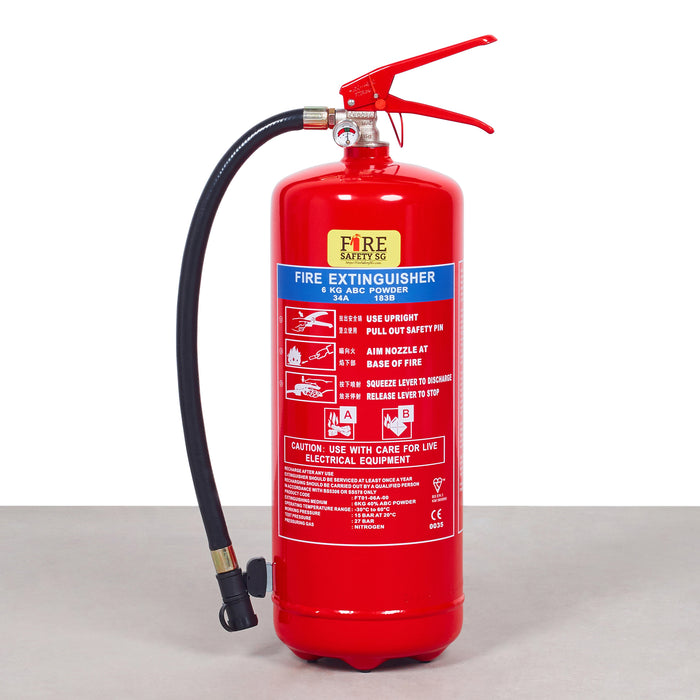 6KG Dry Powder Fire Extinguisher