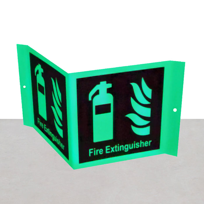 Fire Extinguisher Signage (A-Frame Glow In The Dark)