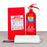 Home Fire Extinguisher Kit (1x 2kg AB Powder + 1x  Fire Blanket 1.8m x 1.8m)