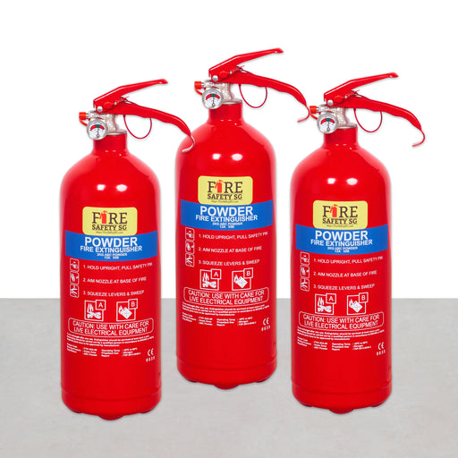 Home Fire Extinguisher (3x 1kg AB Powder)