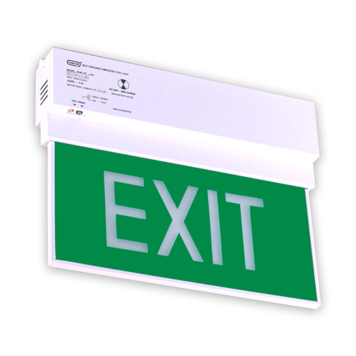 Emergency Exit Light, White LED (Double Face)