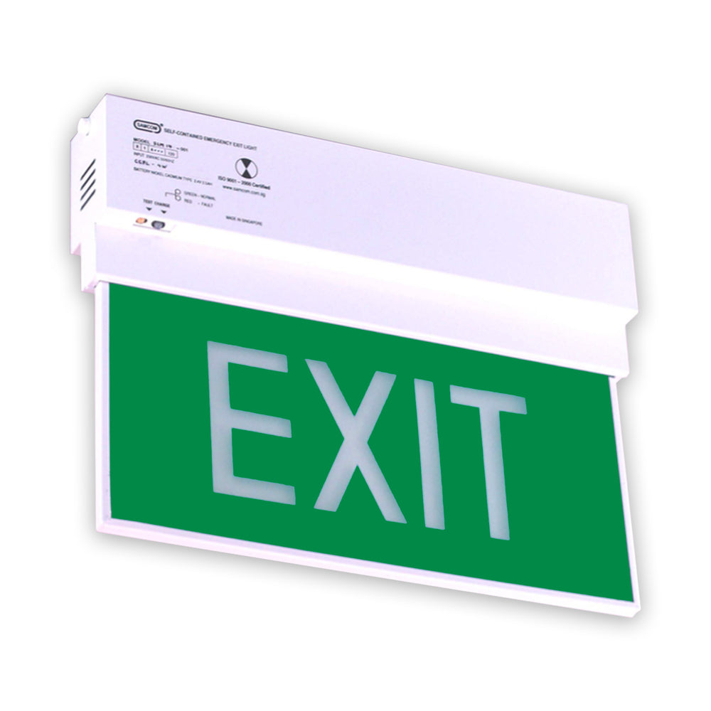 Emergency Exit Light, White LED (Single Face)