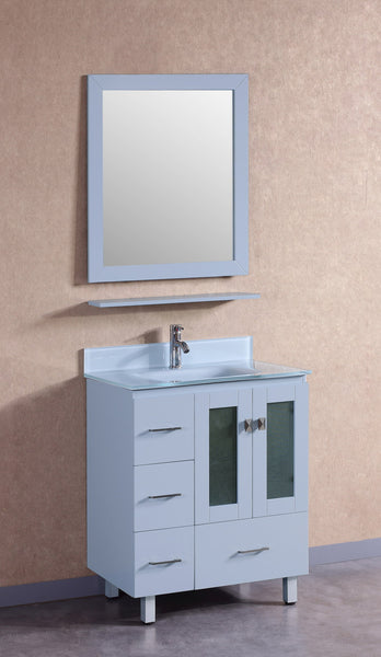 Vanity # T30104GY-R   Modern Grey Vanity with Grey Glass top.