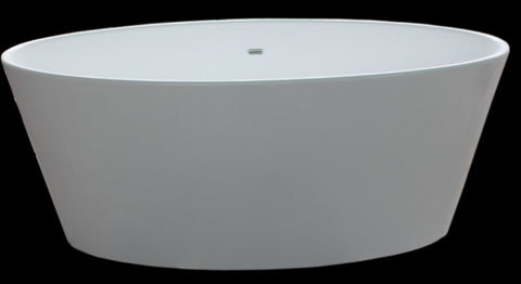 "Tub # XBT1228 Solid Surface Pure White Matt Finish Bathtub Width 58.86"" X Depth 24.69"" X Height 24.21"""