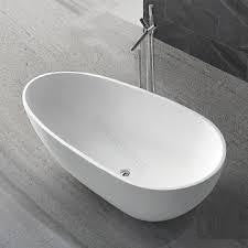 "XBT1237 Solid Surface Bathtub  Matt Finish Width 57.48"" X Depth 27.95"" * Height 21.26"""