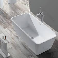 "Tub # XBT1243 Solid Surface Matt Finish Bathtub Width 61.42"" X Depth 27.17"" Height 21.65"""