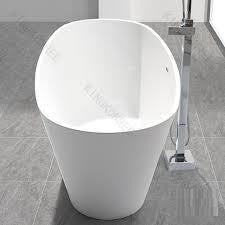 "Tub # XBT1247  White Solid Surface Matt Finish Bathtub Width 67.13"" X Depth 27.59"" Height 24.02"""