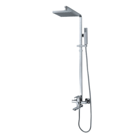 XSF105-CP Matrice Cordone Bath Shower Faucet Chrome-Plated