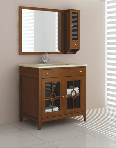 "12026 Contemporary  Free Standing Walnut Vanity - Width 40"" x Depth 22"" x Height 33"""