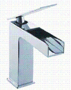 1215-PB Polished Brass Smooth Flowing Single Loop Handle Lavatory Faucet