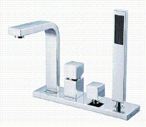 XF1211 Aspectus Square 4PCS Square Handle Roman Tub Faucet